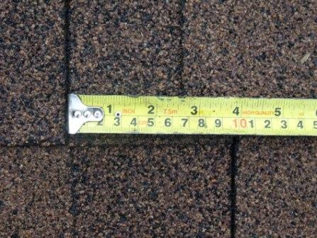 Shingle was not installed properly to the manufacturer's specifications.